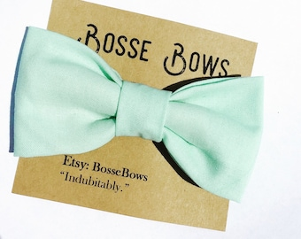 Mint green bow tie, baby bow tie, Toddler bow tie, Mothers Day bow tie, ring bearer bow tie, newborn onesie, baby bowtie, kids bow tie