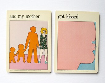 Mother Got Kissed - Vintage MOMA Art Cards - Mothers Day Card - Moms Office Decor - Mid Century Modern Art Decor - Museum of Modern Art