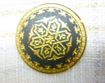 Vintage Damascene Brooch from Toledo Spain