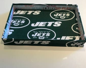 Catchall Tray Made With NY Jets Fabric (Rectangle)