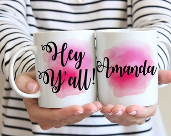 Bridesmaid Proposal Mug Hey Yall Mug Coffee Humor Mug - Bridesmaid Mug Coffee Mug - Watercolor Mug - Unique Coffee Mug - Coffee Lover Gift