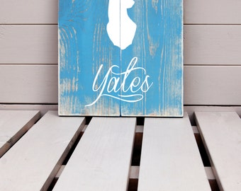 Stag Silhouette - Personalised Surname Wooden Sign
