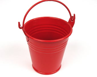Mini Red lacquered zinc bucket