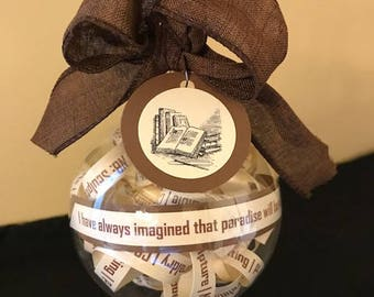 Library of Congress Classification Ornament; Gifts for librarians; Library; Bookworms