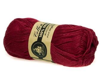 06 Dark Red Mayflower Organic Cotton 8/4 50g