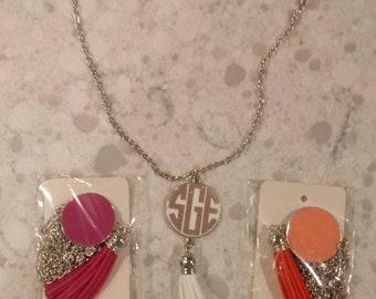 Monogram Tassel Necklaces
