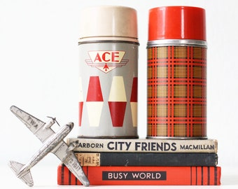 Vintage Thermos Set, 2, Ace Hardware