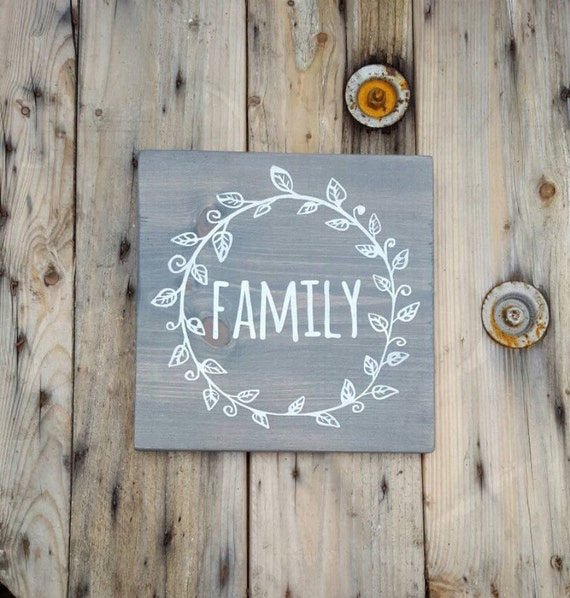 Family Home Decor: Family Sign Wooden Sign Rustic Home Decor Wood Sign