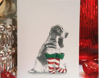 Boxed English Springer Spaniel Holiday Cards