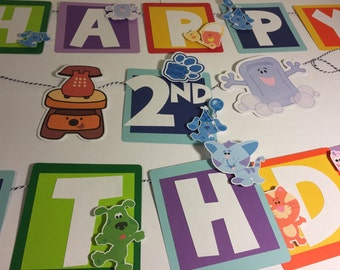 Blue's Clues Banner with Name and Age
