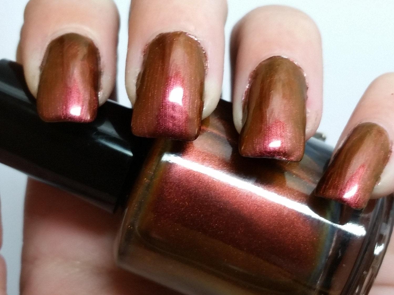 Chameleon, copper nail polish, gold nail polish, indie nail polish 5 ...