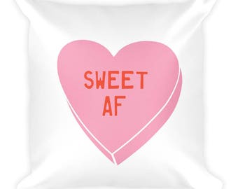 SweetAF Square Pillow