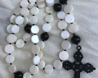 Shell and Onyx Rosary