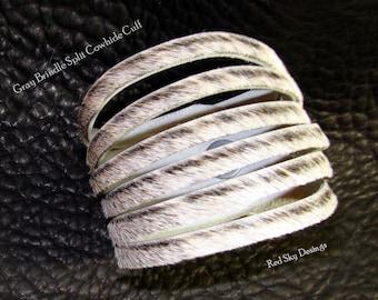 Shredded Cowhide Cuffs  Split Cowhide Bracelet  Leather Supply Cuffs Split Leather Supply Cowhide Cuff Leather Jewelry - Cowhide Bracelet
