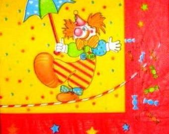TOWEL in paper Clown Acrobat #E042