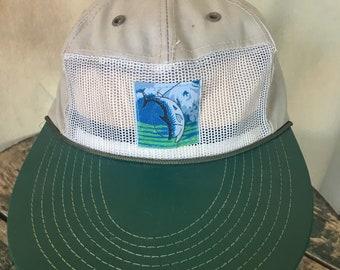 Vintage long bill angler fisherman hat