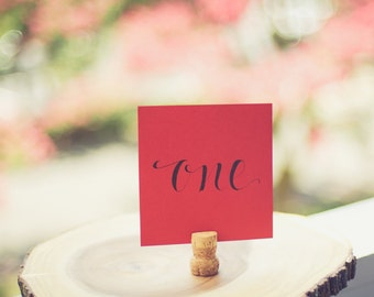 Square Table Card (Red/Black)
