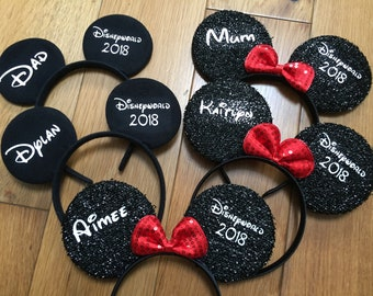 Minnie and Mickey Ears Personalised
