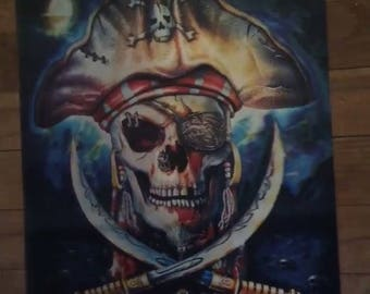 3D Pirate Skull