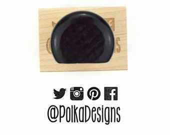 Rubber Stamp Custom Social Media Icons (Up to 4) | Instagram Twitter Pinterest Facebook | Custom Username Stamp