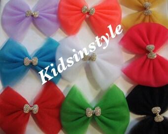 Tulle Hairbow, Tulle Headband, Hair accessories, Hair Accessory,Bows, Headband,Baby Headband, Toddler Headband, Girl Headband, Birthday Bow