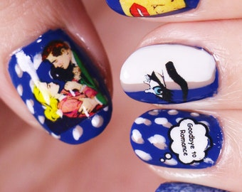 Nail Decals: Goodbye to Romance Water Nail Decals Summer Sale!!!!
