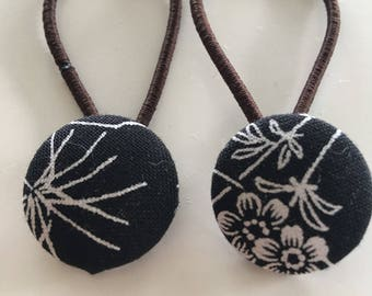 Button Hair Tie - ponytail/pigtails accessories