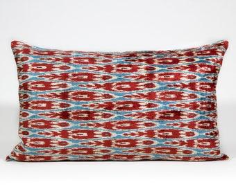 "Rodos Handwoven Velvet Cushion 16""x24"""