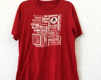 Vintage 80s Delta Airlines City Tee