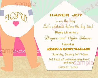 Diaper invitation etsy diapers and wipes baby shower invitation diaper baby shower invitation diaper and wipes invitation filmwisefo Images