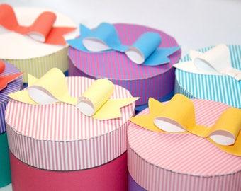 10 Printable Princess Gift Box Templates - Anna, Ariel, Aurora, Belle, Cinderella, Elsa, Jasmine, Rapunzel, Snow White, Tiana - DIY party