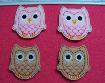 Owl Feltie  Choose Size and Color