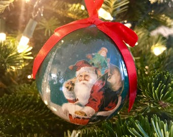 Santa Christmas Ball Ornament