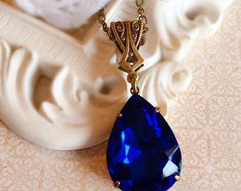 Sapphire Jewelry - Blue - Victorian Necklace - September -  VERSAILLES Sapphire