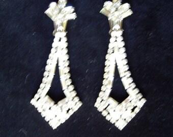 Glamorous Very  Long Rhinestone Drop Earrings Perfect Item #969 Jewelry