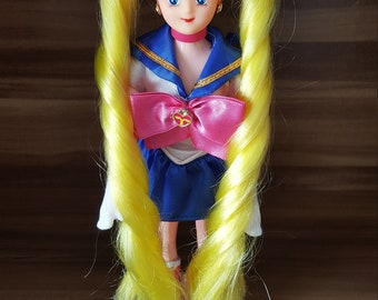 Talking Italian Sailor Moon Figur Doll Rare