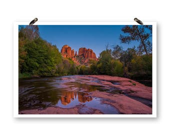 Cathedral Rock, Sedona Prints, Night Photography, Fine Art Photography, Mountain Prints, Reflections, Arizona Photography, Landscape Photos