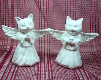 Cat Angels | Angel Cats | Unpainted Ceramics| Bisqueware |  Animal Angels | Ceramic Bisque | Ceramics to Paint | Bisque Ware
