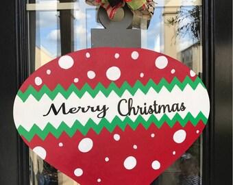 Merry Christmas Ornament Door Hanger