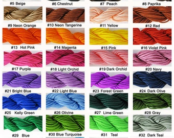 18 Meters / 19 Yards Of 1.5 mm Nylon Cord for Shamballa Bracelet, Jewelry & Crafts You Choose Color