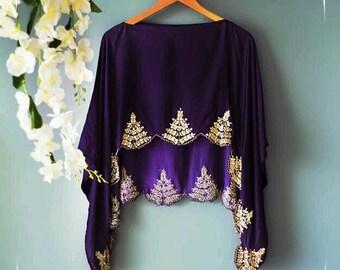 Top/cap hand wrok, vintage pattern, skirt, classy designing