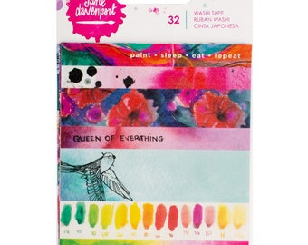 Jane Davenport - Mixed Media Washi Tape Book - Planner, Washi Tape, Stickers