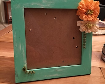 6x6 green painted picture frame
