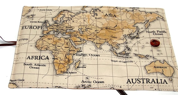 Large bible cover in world map fabric featuring australia large bible cover in world map fabric featuring australia other continents available book cover uk seller for hardbacks paperbacks sciox Gallery