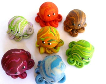 Custom Awesome Little Octopus Mini Marble Friend Choose Yours Up to Three Colors