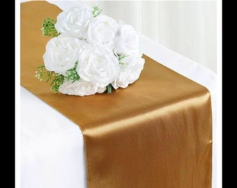 30 gold table runners
