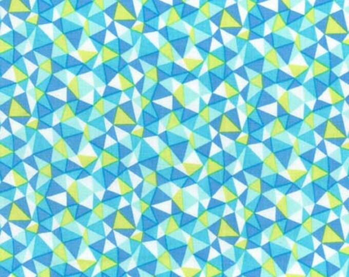 Llama Rama by Michael Miller - Garden Walk Mosaic - Stream - Cotton Woven Fabric