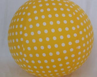 Balloon Ball - Yellow polka dots fabric - Perfect Birthday gift - as seen with Michelle Obama on Parenting.com