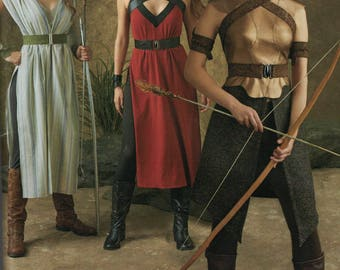 Simplicity 0109 Costume Pattern - Womens Warrior, Princess, Archer, Hunter Cosplay Pattern SIze 6,8,10,12,14 UNCUT