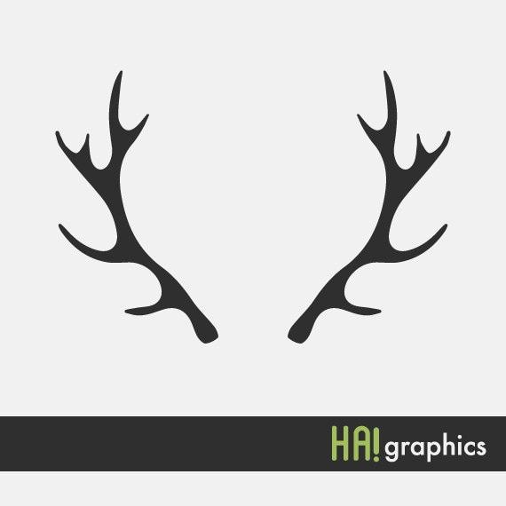 svg and dxf file deer antlers silhouettes clipart vector rh etsystudio com deer antler clip art free deer antler clip art free
